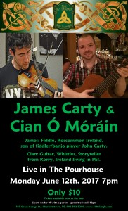 James Carty and Cian O'Morain Concert Monday June 12th 2017 7pm poster photo