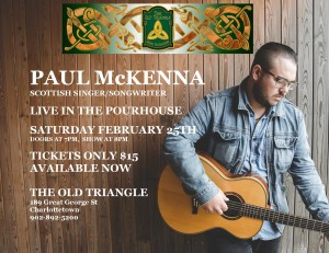 PAUL McKENNA Solo Sat Feb 25th 2017 8pm Poster photo
