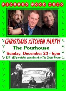 Richard Wood Trio Sunday December 23rd 2018 6pm poster