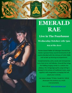 Emerald Rae Concert Wednesday October 11th 2017 poster photo
