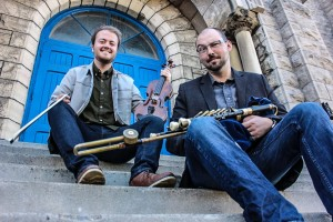 The Trousers!  Fiddle, Pipes and Songs with Karson McKeown and Ross Davison ... 8pm, no cover!