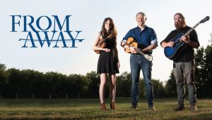 FROM AWAY!  Matinee with this fun Ottawa based trio on the main floor Saturday August 31st 6-8pm.  No cover!