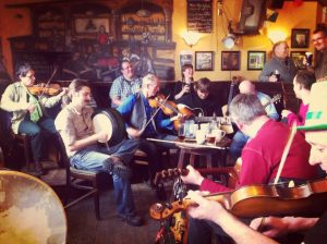 """Sunday Afternoon Tune Session is Back!  Join the rotating """"Sunday 5"""" of tune players with host Roy Johnstone for a great blast of tunes and Craic, every Sunday 2-5pm"""